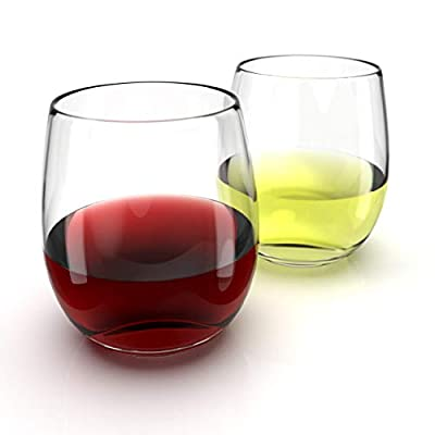 Chef's Star Shatter-Resistant Stemless Wine Glass Set
