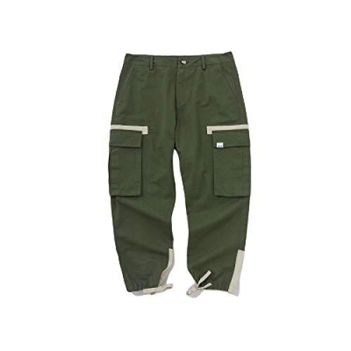 Katenyl Pantalones Cargo de Color en Contraste con Costuras para Hombre, Tendencia de Moda, Pantalones básicos Informales relajados para Senderismo al Aire Libre 28