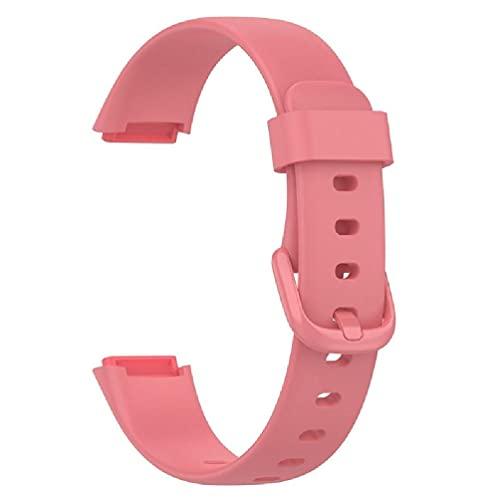 dedepeng Compatible con pulseras deportivas Fitbit Luxe Watch, de silicona suave, ajustable, resistente al agua, resistente a los arañazos y al polvo