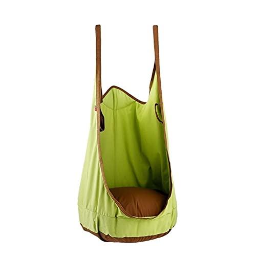 LZL Silla para niños Silla para niños Podio para niños Asiento de Swing Hamaca Hamaca Tienda Interior y Exterior con Gancho y Cuerda (Color : Green)