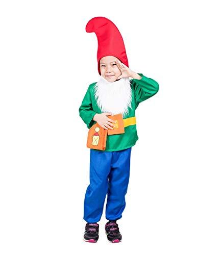 Seruna Disfraz de Enano F139 Tamaño 2-3 años (92-98 cm), Trajes de niños y niñas, para el Carnaval, también Adecuado como Regalo de cumpleaños