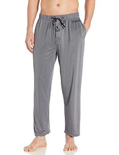 STACY ADAMS Men's Regular Sleep Pant, Gray, Large