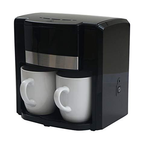 iiL SMAW Cafetera eléctrica de Goteo para 2 Tazas 2 Tazas de Regalo Incluidas Potencia: 500W, Filtro Permanente, Interruptor Encendido/Apagado, Base Antideslizante
