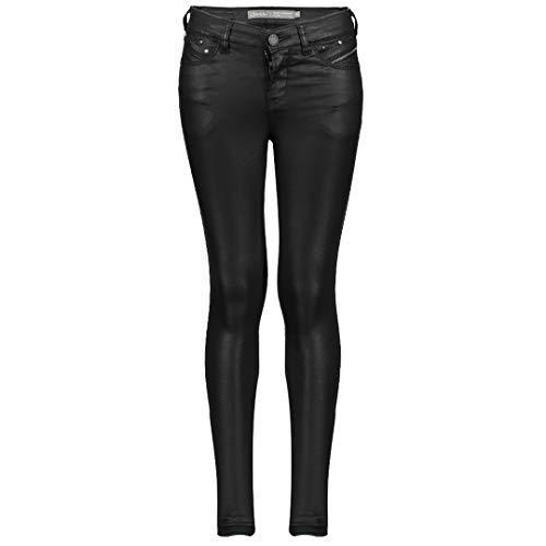 Geisha Jeans voor meisjes, gecoate look, zwart, 91515K
