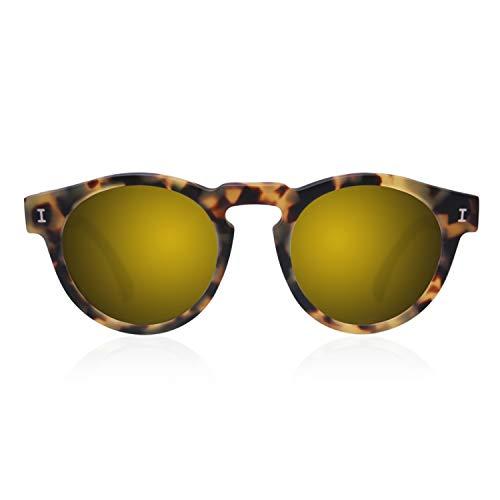 illesteva Damen Sonnenbrille Leonard Matte Tortoise Gold Mirror