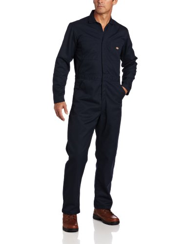 Dickies Men's Basic Blended Coverall, Dark Navy, L Regular