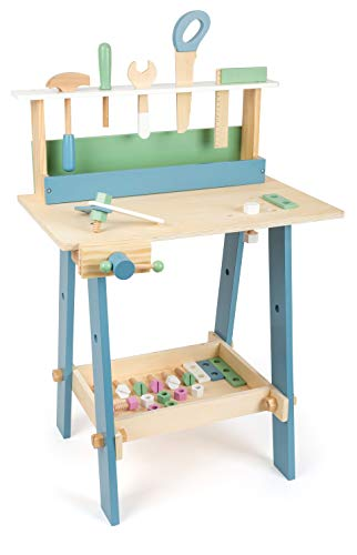 Small Foot Wooden Toys Premium Nordic Workbench Complete playset Designed for Children Ages 3+ Years