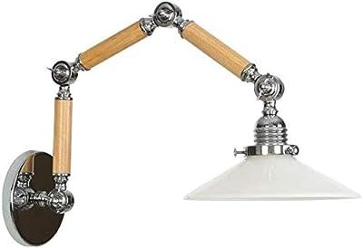 N / A Lampe Murale d'éclairage Exquis E27 Edison, Bois, Industrie du Verre Bras Long Murale lumières de Nuit éclairage décoration de la Maison AC 110V-240V (Couleur, Trois FES.