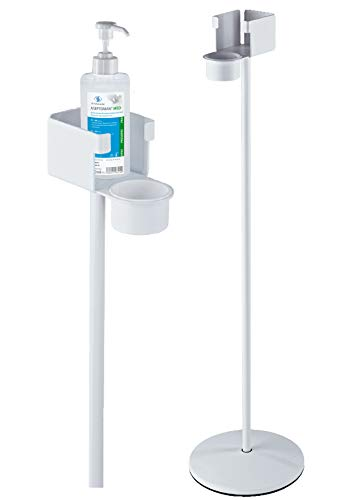 Hygienesäule Desinfektionsmittel-Ständer inkl. 5x Handdesinfektionsmittel viruzid 500ml Aseptoman Med und 1x Dosierpumpe 500ml