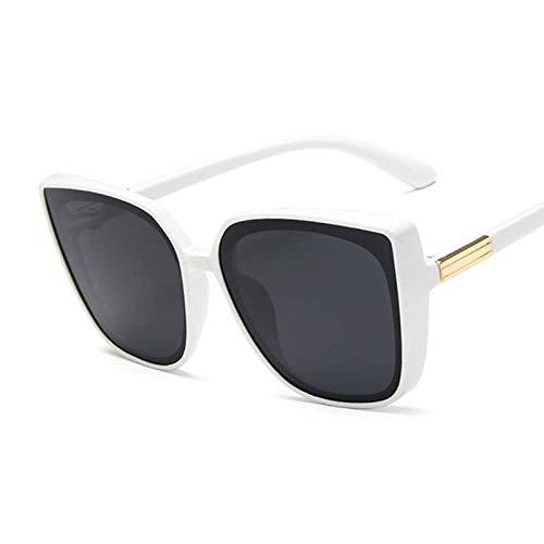 PPLAX Gafas de Sol Gafas de Gato Ladies Retro Retro Espejo Negro Gafas de Sol Señoras Gafas de Sol (Lenses Color : White Gray)