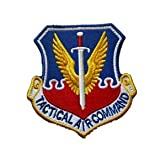 Tactical Air Command USAF TAC Vietnam War Era Sword Wings Tactical Embroidery Patch Hook & Loop Morale Patch Military Patch for Clothing Accessory Backpack Armband