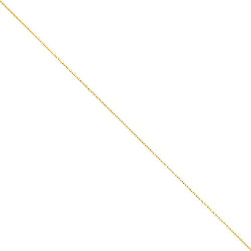 14k oro giallo 1 millimetri solido Spiga catena collana