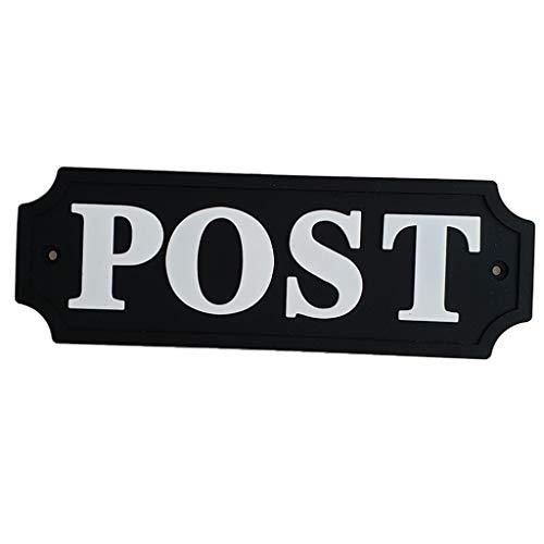 FLAMEER Wetterfeste Türschild Schilder für Büro Garten, aus PVC - Schwarz und Weiß, Post