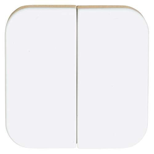 OPUS 1 Serienwippe für Wandsender-Modul Ausführung ohne Symbol, Farbe alpinweiß