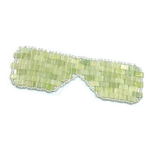 DC CLOUD Quarz-Jade-augenbinde Natürliche Jade Augenmaske Jade Schlafmaske Anti-Aging Cold Therapy Augenbinde Augenermüdung Lindern Kühlend Entgiftend Und Schlaf Verbessern A,1