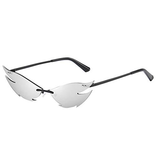 Topgrowth - Gafas de sol de metal para cosplay, estilo vintage, protección UV400, vasos de gato, gafas de sol
