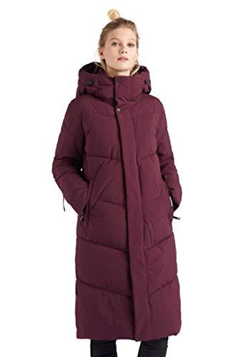 khujo Dames mantel Torino gewatteerde jas lang warm capuchon zakken