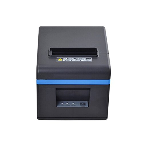 80mm POS Thermal USB Interfaces Printer, POS Printer with 80mm Thermal Paper Rolls - Auto Cutter - Cash Drawer Port - Works on Windows XP/Vista/7/8/8.1/10 Uses (Black)