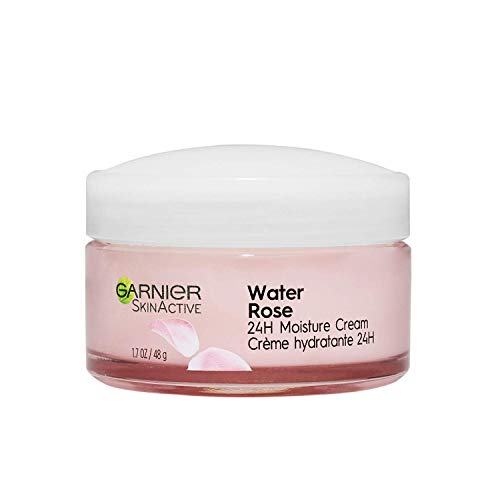Garnier SkinActive 603084571253 24H Moisture Cream with Rose Water and Hyaluronic Acid, Face Moisturizer, For Normal to Dry Skin, 1.7 Fl Oz- 2 Pack