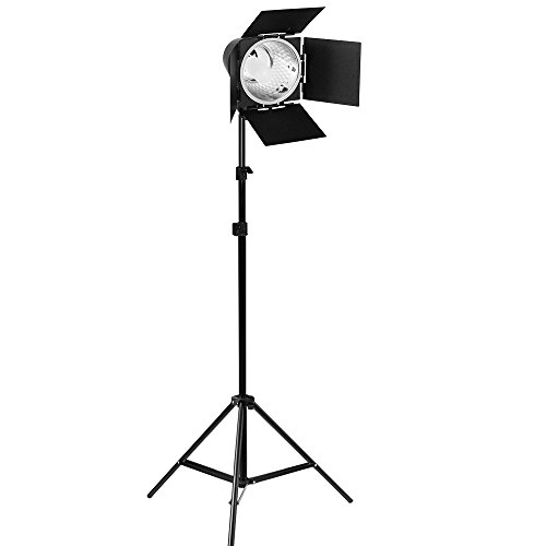 (50% Moving Clearance Sale) Continuous Photography Studio Barn Door Light, 86 Inch Adjustable Light Stand and 150W JDD Light Bulb, Photo/Video Studio Lighting Kit PR12_AM1