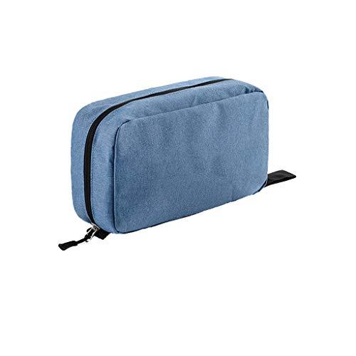 Stockage de Voyage Lavage Sac de cosmétique de Stockage Femelle Portable imperméable Grandes Fournitures de Voyage FANJIANI (Color : Blue)