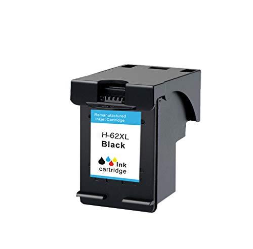 Compatible con los Cartuchos de Tinta 62XL para HP 62 Cartuchos de Tinta HP 200 258 5542 5640 Impresora de inyección de Tinta en Color,Negro