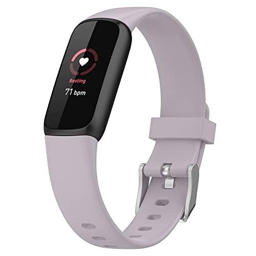 Braleto Cinturino Compatibile con Fitbit Luxe Tracker, Cinturino Sostitutivo in Silicone Morbido per Fitbit Luxe (Lavanda)