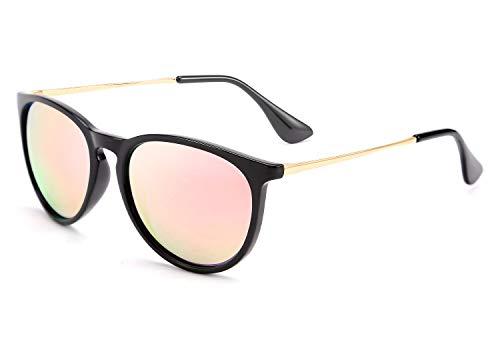 FEISEDY Polarized Sunglasses Women Men Vintage Round Classic Mirrored Sun Glasses B2571