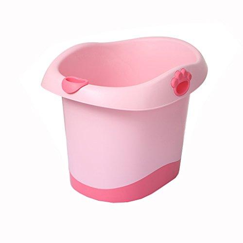 Multifunctionele stoel Vouwemmer Huishoudelijke Plastic 0-6 Jaar Oude Baby Badkuip Comfortabel Draagbaar/Stabiel Draagbaar/Materiaal Veiligheid Blauw, Groen, Roze, (67 * 37,7 * 50cm)