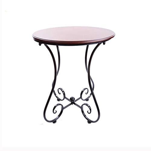 Huahua Furniture Bijzettafel, houten kleine ronde tafel sofa side tafel Simple kleine salontafel koffietafel