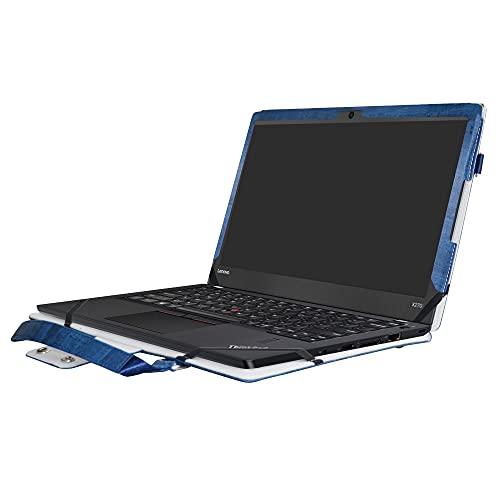 Schutzhülle für ThinkPad Yoga 370, 2-in-1, präzise gestaltete Schutzhülle aus PU-Leder und Tragetasche für Lenovo ThinkPad Yoga 370 Serie (nicht für andere Modelle geeignet), Blau