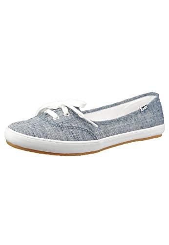Keds Schuhe Damen Sneaker WF62610 Ballerina Teacup Chambray LT Blue Blau, Groesse:39 EU