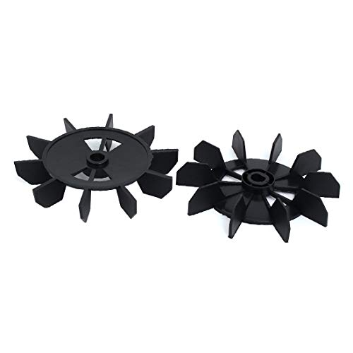 New Lon0167 0.5-inch Inner Featured drills holes 150mm reliable efficacy Dia Air Compressor Replacement Fan Black 2pcs(id:446 2d 6b 61b)
