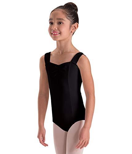 Motionwear Wide Strap Princess-Seam Camisole Leotard, Black, Large Child