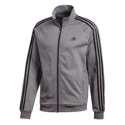 adidas Herren Essentials 3-Streifen Tricot Track Jacke, Herren, Dunkelgrau/Schwarz, Medium