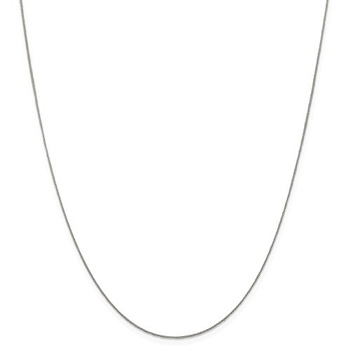 925 Sterling Silver 0.5mm Fine Link Curb Chain Necklace 18 Inch Pendant Charm Fine Mothers Day Jewelry For Women Gifts For Her 1/2 Sterling Silver Jewelry