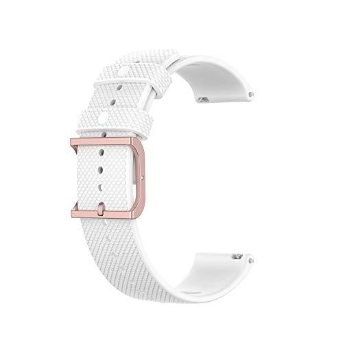Tiggo 22MM Correa Compatible con Polar Grit X / Vantage M,Bandas Correa Repuesto,Reloj Recambio Brazalete Correa Repuesto para Polar Vantage M2/Garmin Venu 2/ Amazfit GTR 47mm (blanco)