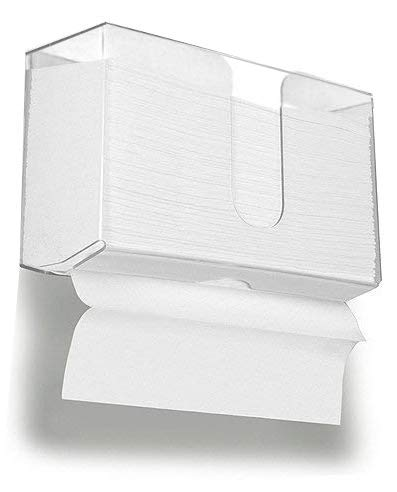 Wall Mount Paper Towel Dispenser,Acrylic Paper Towel Holder for Bathroom and Kitchen,10.9'W x 4.3'D x 6.5'H,By Cq acrylic