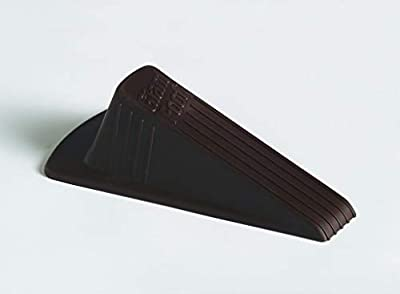 """Master Manufacturing Brown Giant Foot Door Stop, Heavy Duty Rubber Wedge Design, Made in the USA, Holds Doors Up to 2"""" Clearance Securely (00964)"""