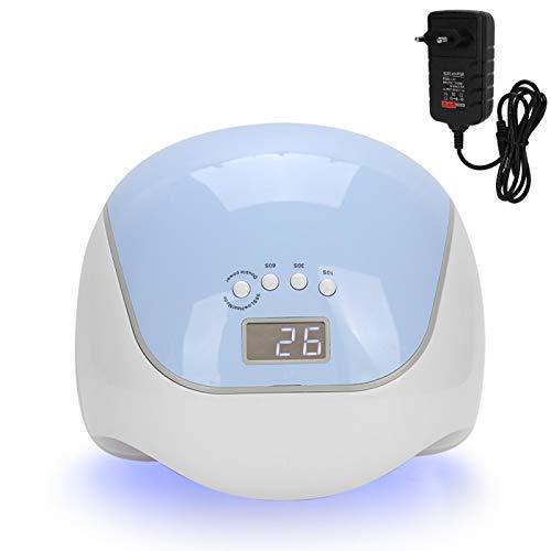 Lámpara de uñas profesional LED UV Gel secador de esmalte de uñas lámpara inteligente máquina de curado de uñas para esmalte de uñas y gel 120W(EU plug)