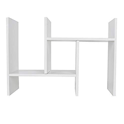PLHMS Instelbare houten bureau-boekenkast, slaap-desktop-bibliotheek, eenvoudige rekhout-combinatie, kast, studenten slaapkamer, bureau