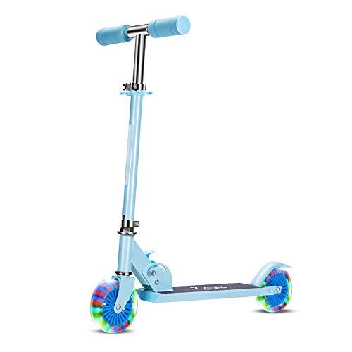 ALTINOVO Stunt Scooter con Rendimiento Estable: el Mejor Scooter de Nivel de Entrada, 7 Luces LED de Color en Las Ruedas,Blue