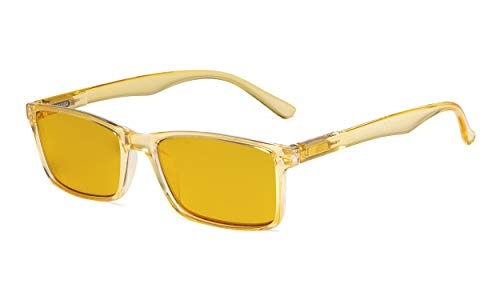 Eyekepper Computer Glasses - Blue Light Blocking Readers with Amber Tinted Filter Lens - Stylish Reading Glasses - Yellow +2.50