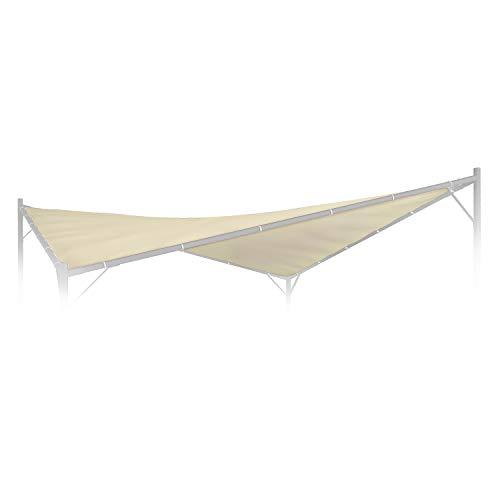 blumfeldt Sombra - Tetto di Ricambio per Gazebo, Tetto Sostitutivo per Gazebo, Superficie: 4 x 4 m, Tessuto in Poliestere 180 g/cm², FlexMood Concept, Beige