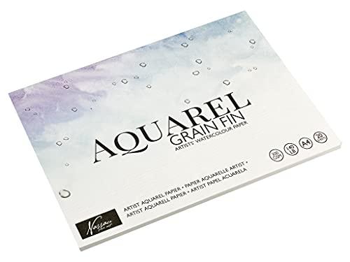 Art Sensations Papier Aquarelle A4 pour Artistes - 20 Pages, Grammage 300 g/m² - Bricolage Loisirs Créatifs Matériel de Dessin et Peinture