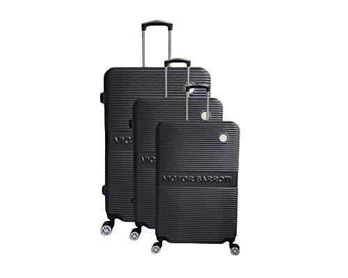 Juego de 3 maletas Milan, ABS, 75 cm, 65 cm, 55 cm, gris oscuro