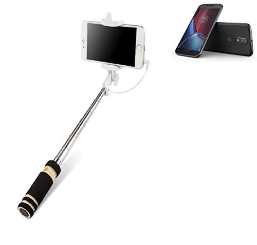 K-S-Trade® Per Lenovo Moto G (4. Gen.) Plus Bastone Selfie Selfiestick Asta Autoritratto Telescopica Fotografico Monopiede Selfie Stick
