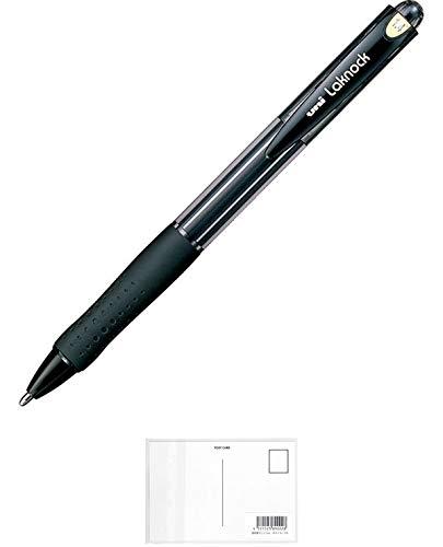 三菱鉛筆 三菱ボールペンVERY楽ノック極太1.4 黒10本 + 画材屋ドットコム ポストカードA