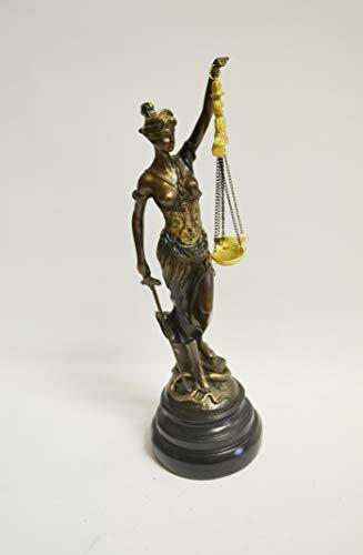 Atelier Harmony JUSTIZIA Bronze farbend Figur 33cm JUSTITIA GÖTTIN DER Gerechtigkeit