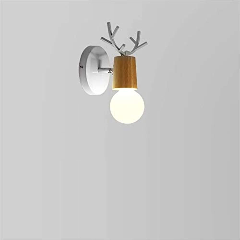 OwentsWall Lamp Nordic Wall Weiß Wandleuchte Modern Minimalist Bedside Lamp Wandleuchte Fashion Antler Creative Led Schlafzimmer Ganglichter